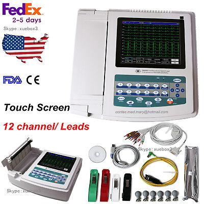 Touch Screen 12 Channellead Ekg Digital Pc Sync Software Ecg Machine Contec Us