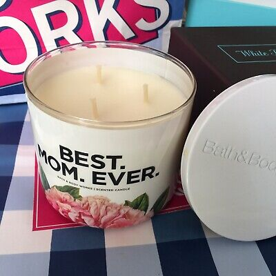 RARE BATH & BODY WORKS BEST MOM EVER 3 WICK CANDLE~