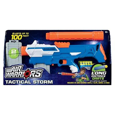 NEW Air Warriors Tactical Storm Clip Fed Foam Dart Rifle Blaster for sale  Shipping to India