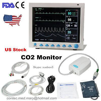 Free Etco2 Capnograph Vital Signs Patient Monitor Contec Cms8000 Multi Parameter