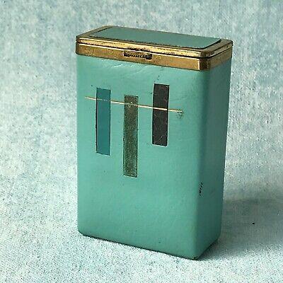 Cigarette Case Leather Princess Gardener Vintage Mint Green Aqua