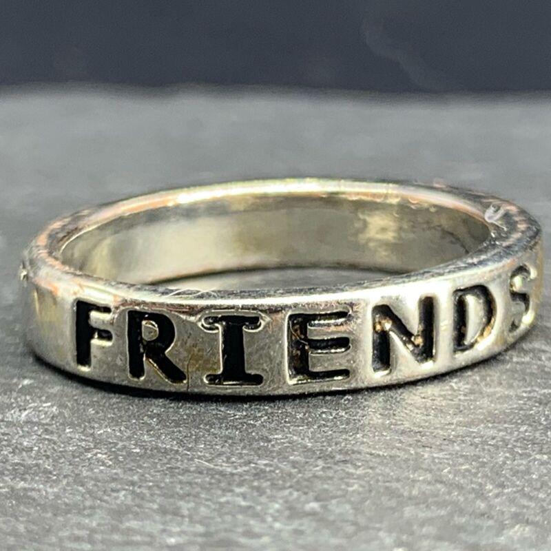 "Vintage Sterling Silver - ""Best Friends Forever"" - 925 Ring - Size 7.25"