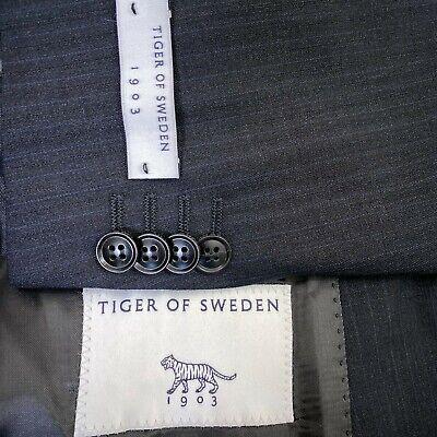 Tiger of Sweden Trim Fit Stripe Wool Sport Coat Black Men's Size US 36R
