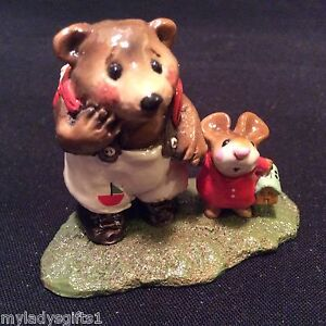 WEE-FOREST-FOLK-SPECIAL-COLOR-MOUSIES-BIG-PAL-W-RED-SAIL-BOAT-RETIRED-36-MADE