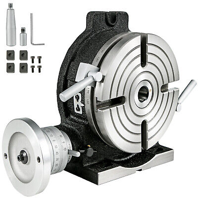 8 Rotary Table Horizontal And Vertical Hv8 4 Slot For Milling Machine Precision