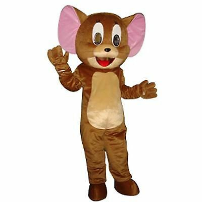 Jerry Mouse Mascot Costume Tom&Jerry Party Cat and Mouse Cartoon Outfits Cosplay](Tom And Jerry Halloween Cartoons)
