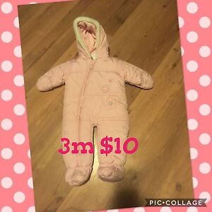 Snow suits 3m to 18m
