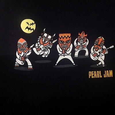 Pearl Jam Ten Club Halloween 2017 T SHIRT SIZE XL & Sticker members only