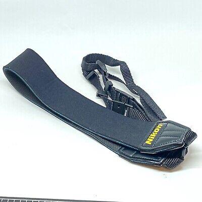 Genuine Nikon OEM Wide Neoprene Neck Strap SLR Camera Quick Release Anti Slip