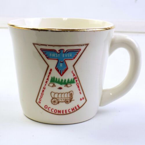 Vintage Occoneechee Council Boy Scout Coffee Mug First Ever Camporee 1966