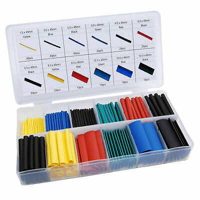 328pcs Cable Heat Shrink Tubing Sleeve Wire Wrap Tube 21 Assortment Kit Fast