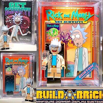 Adult swim Rick N Morty custom MINI-FIGURE w/ Display Case 464 Mini-fig