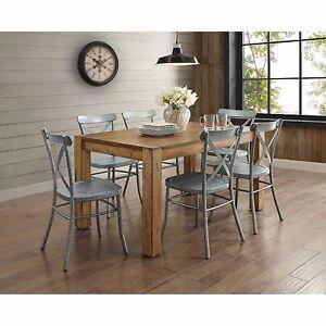 Vintage Metal Dining Chairs industrial metal chair | ebay