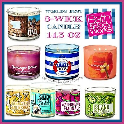 Bath & Body Works 3 Wick Candles 14.5 oz World's Best Candle! Free