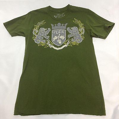 Filter Men's Coat of Arms Lions Crest T-Shirt, Green, - Coat Of Arms Green T-shirt