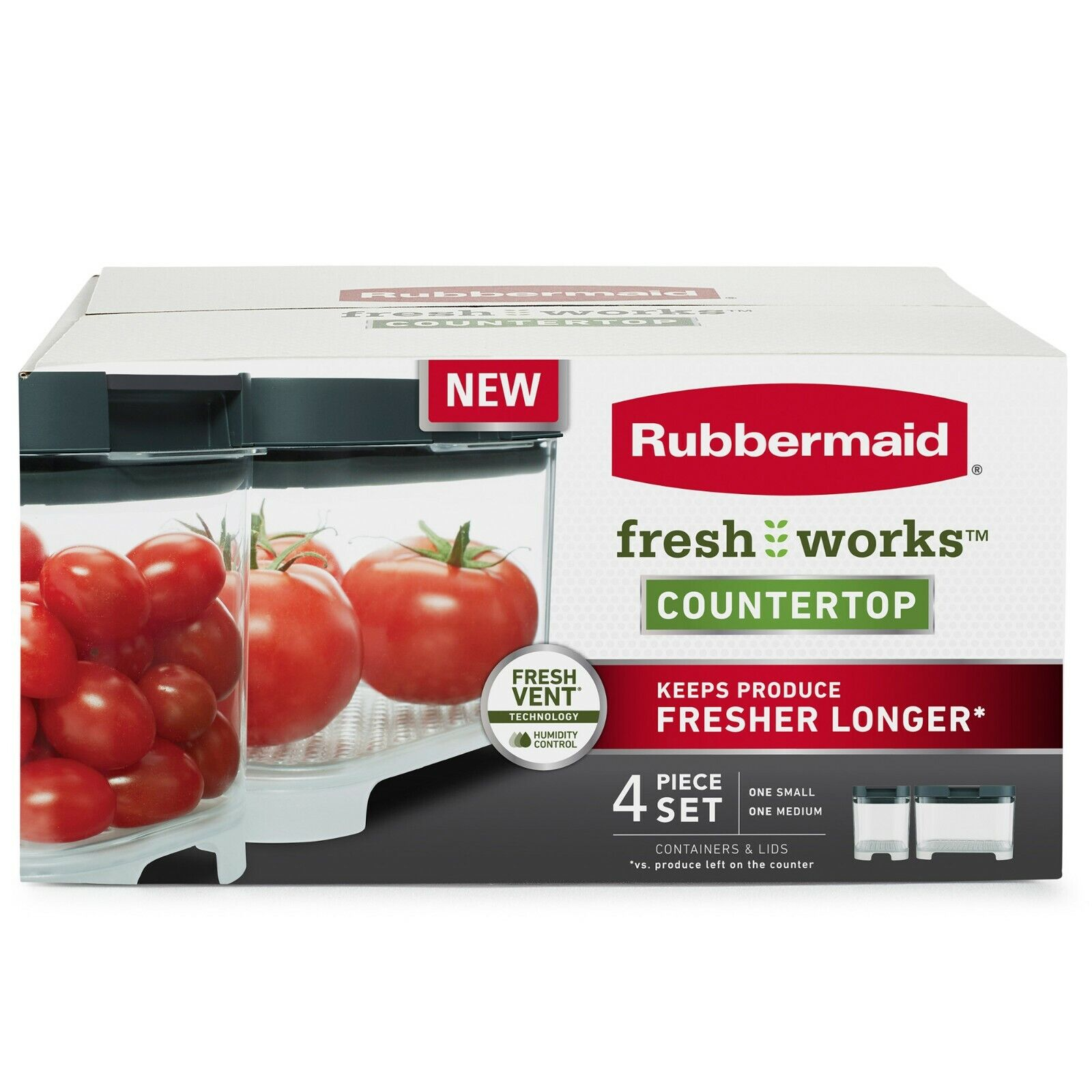 Rubbermaid: FreshWorks Counter Top - 4 Piece Set 2 Container