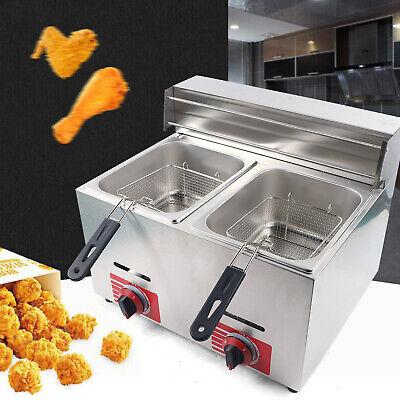 Deep Fryer Commercial Countertop Gas Fryer 210l Basket Stainless Steel Propane
