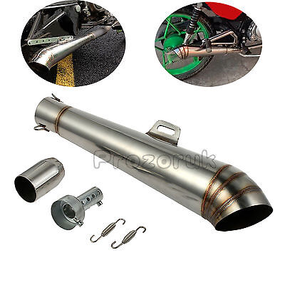 Motorcycle GP 38-51mm Slip-On Universal Stainless Exhaust Muffler Silencer PIPE