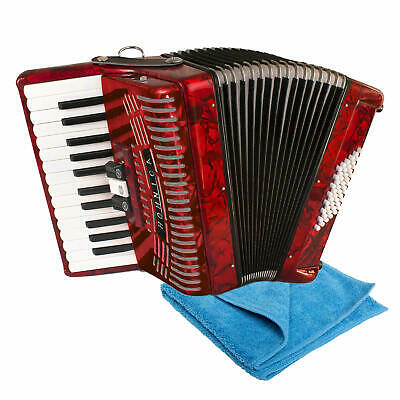 Hohner HOHNICA 1304-RED 48 Bass Piano Accordion with Boss Polishing Cloth