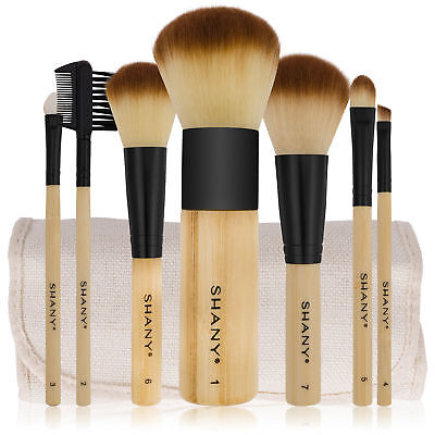 SHANY Bamboo Brush Set with Premium Synthetic Hair, Bamboo H