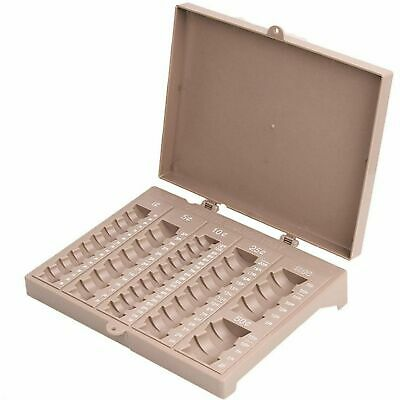 Coin Counter Sorter Money Tray -6 Compartment - Holds Pennies Nickels Dimes