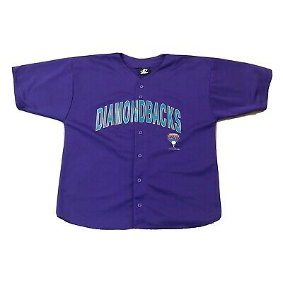 Vintage Arizona Diamondbacks 2001 Purple Jersey Size XL