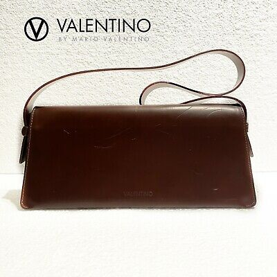 Valentino Vintage Brown Shoulder Bag Made in Italy
