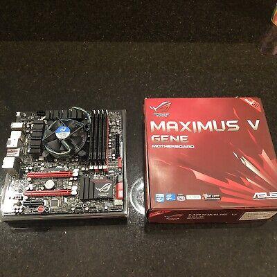 ASUS MAXIMUS V GENE Motherboard i7-2600k 3.4GHZ CPU 16GB G Skill 12800 DDR3 RAM