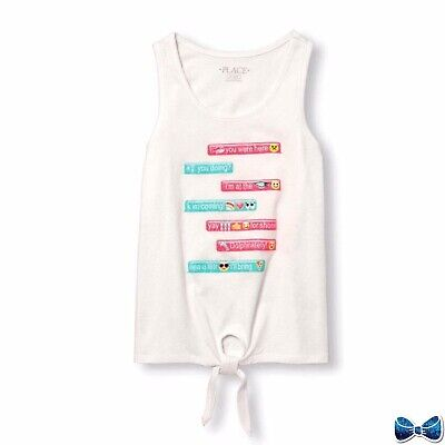 """The Childrens Place Size 10-12 """"Texting"""" Tank New With Tags"""