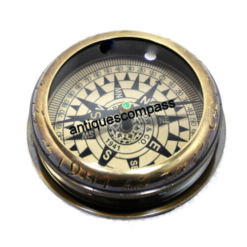 Marine Compass Antique Finish Maritime Brass Nautical Collectible Antique Gift