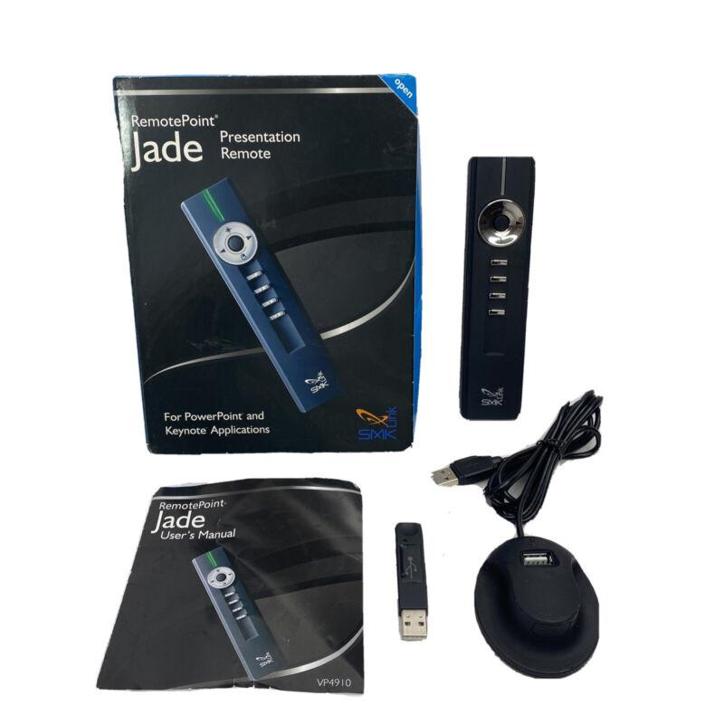 SMK-Link VP4910 RemotePoint Jade Presentation Remote Control Black Tested Works