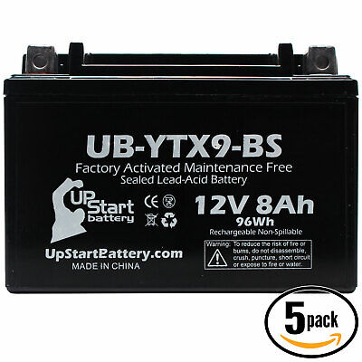 5x Battery for 2009 - 2012 Triumph Street Triple, R 675CC