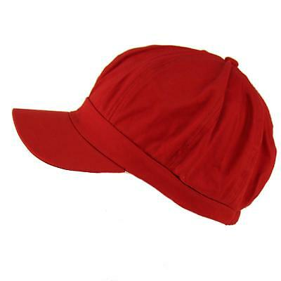 Apple Cotton Cap (Summer 100% Cotton Plain Blank 8 Panel Newsboy Gatsby Apple Cabbie Cap Hat Burg)
