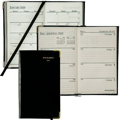 2020 At-a-glance 70-1111 Fine Diary Weekly Monthly Planner 2-78 X 4-78