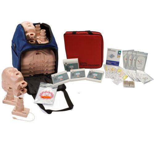 CPR Training Kit w/ Prestan Ultralite Manikins w/ FEEDBACK  & WNL AED Trainers