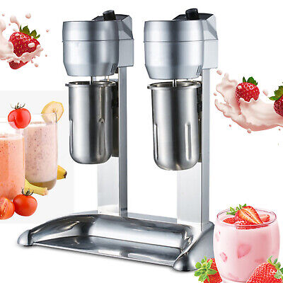 Commercial Stainless Steel Milk Shake Machine Double Head Drink Mixer 110v Bar