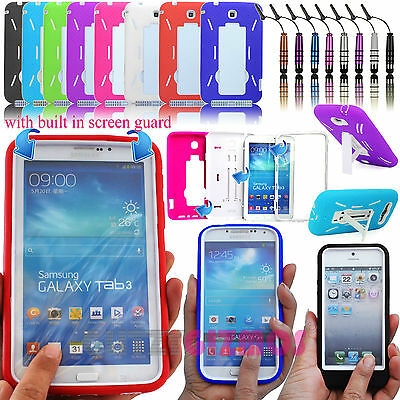 SHOCK PROOF BUILDERS HEAVY DUTY TOUGH CASE COVER FOR MOBILE PHONES / TABLETS