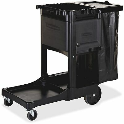 Rubbermaid Commercial Rcp1861430 Executive Janitor Cleaning Cart 1 Each Bla