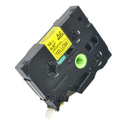 1pk Tz-631 Label Tape Black Yellow Tze-631 For Brother P-touch Pt-1880 12mm8m