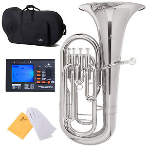 CECILIO-EP-280N-Nickel-Plated-Bb-EUPHONIUM-w-4-Valves