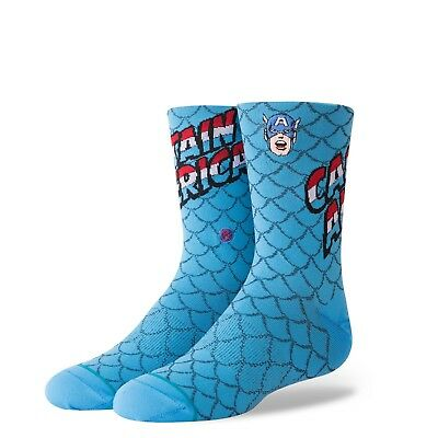 STANCE CAPTAIN AMERICA MARVEL KIDS SOCKS B515D18CAP (Kids Captain America)