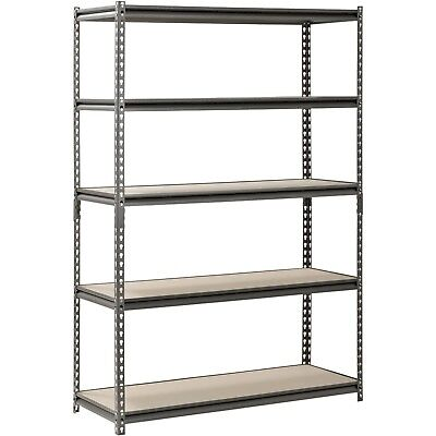 Muscle Rack Silver Vein Steel Storage 5 Adjustable Shelves 48w X 24d X 72