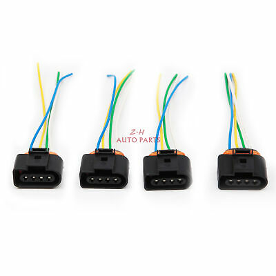 4x FIT FOR AUDI VW SEAT SKODA IGNITION COIL PACK PLUG CONNECTOR A3 A4 JATTA 1.6L