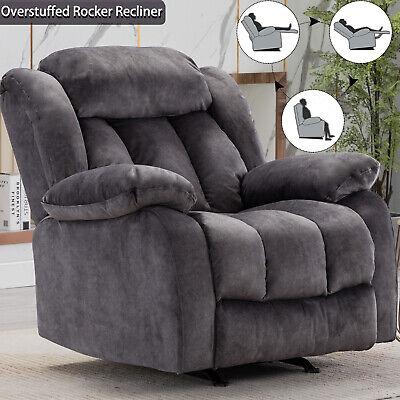 Overstuffed Rocker Recliner Chair Bayby Glider Chair Thick Armrest Lounge Sofa