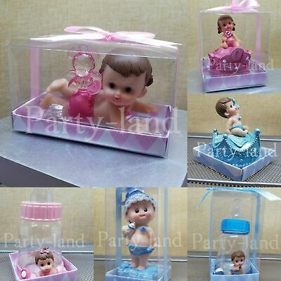 1 Baby Shower Boy Girl Cake Topper Decoration Animals Figurines Party Favors Animal Baby Shower Cakes