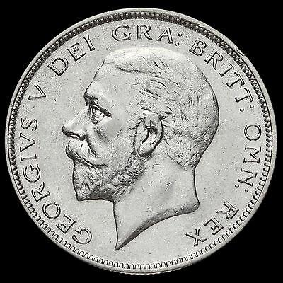 1930 George V Silver Half Crown, Very Rare
