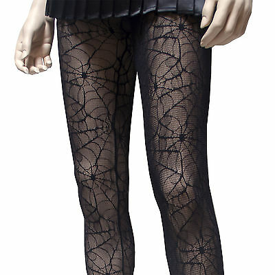 GOTHIC  SPIDER WEB LACE FISHNET TIGHTS IN SM ML   BY COLLANT COUTURE ](Spiderweb Tights)