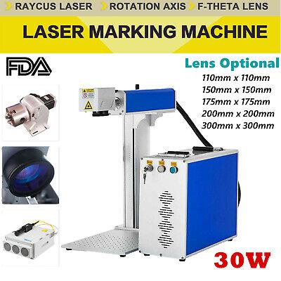 Fda 30w Raycus Fiber Laser Marking Machine Cnc Laser Metal Engraving Logo Diy