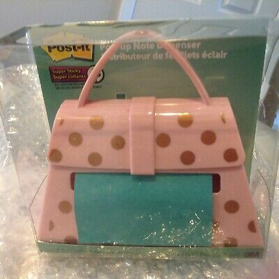 Post-it Pop Up Note Dispenser - Pink Polk A Dot Purse - Black Purse - New