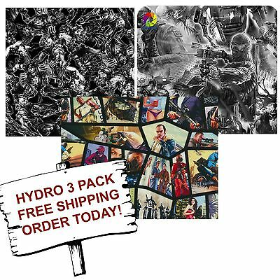 Hydrographic Film Water Transfer Printing Film Hydro Dip Gamer 3 Pack